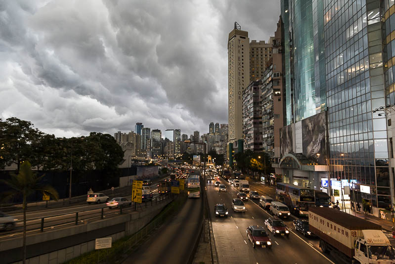 Suppe und Gewitter in Hong Kong - China