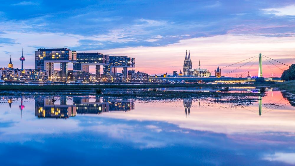Fotokurs Blaue Stunde Köln Kranhäuser