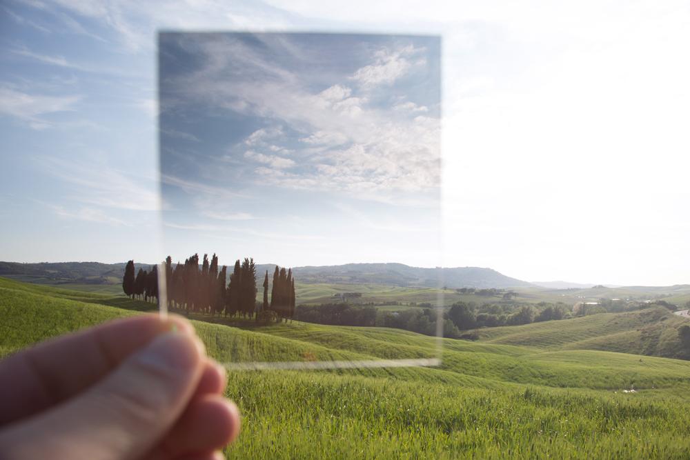 Bild 5:  Blick durch einen Grauverlaufsfilter.