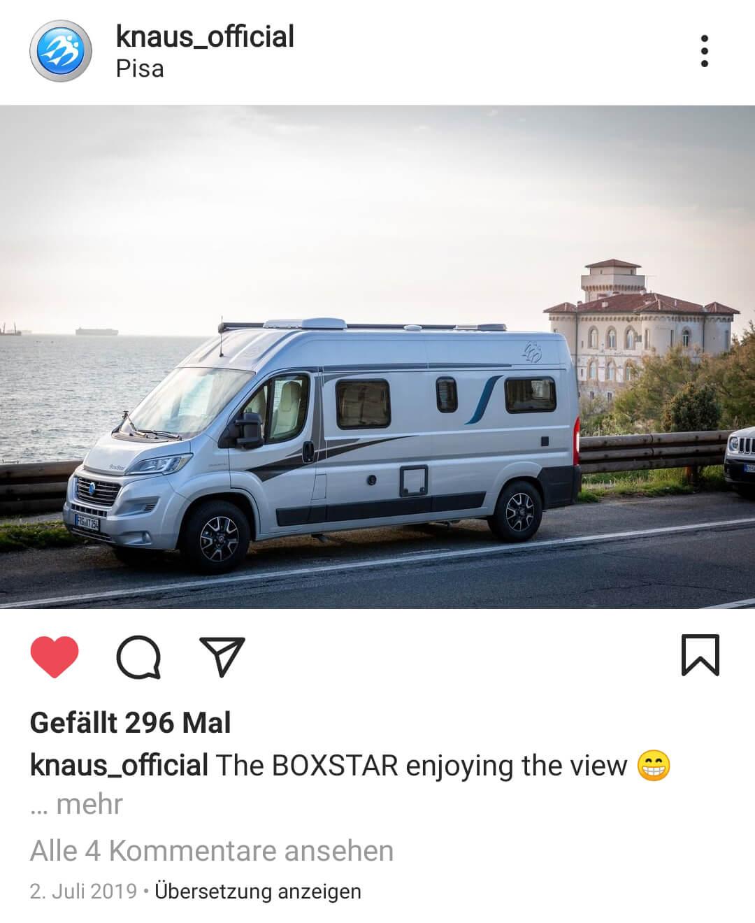 Content-Erstellung für Knaus Wohnmobile